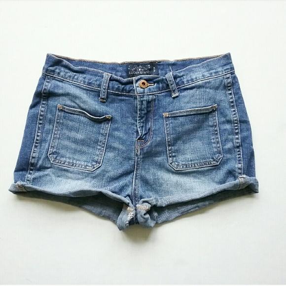 Lucky Brand Pants - Lucky Brand High Waist Patch Pocket Jean Shorts